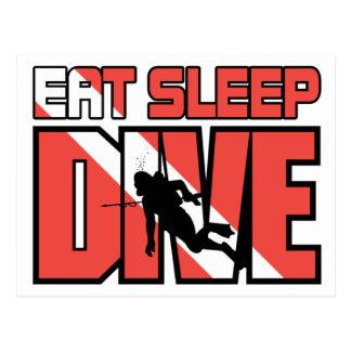 Eat Sleep Dive Postcard