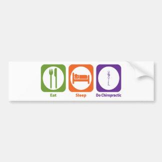 Eat Sleep Do Chiropractic Bumper Sticker