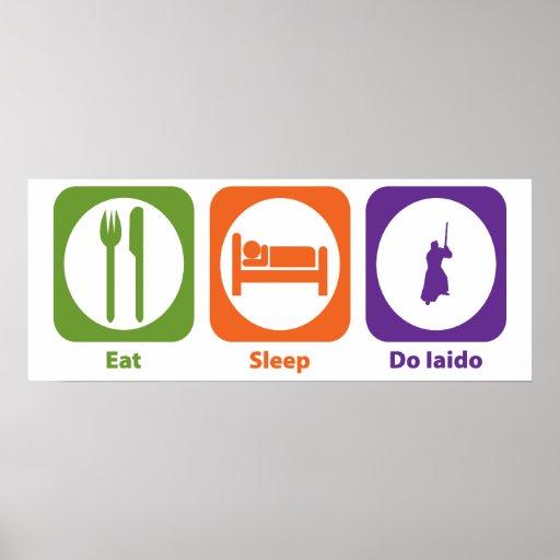 Eat Sleep Do Iaido Print