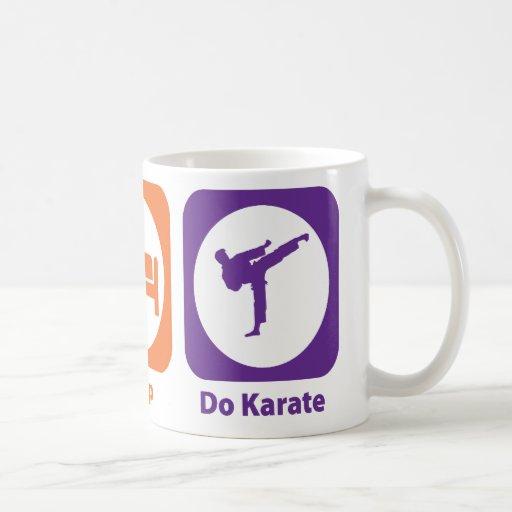 Eat Sleep Do Karate Coffee Mugs