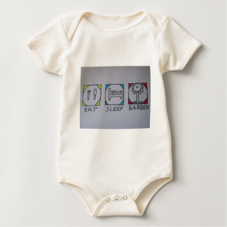 eat,sleep,garden baby bodysuit