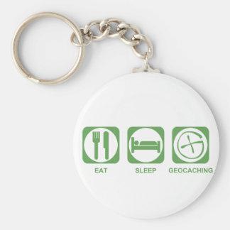 Eat Sleep Geocaching Key Ring