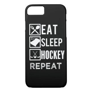 Eat Sleep Hockey Repeat funny mens phone case