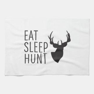 Eat Sleep Hunt Tea Towel