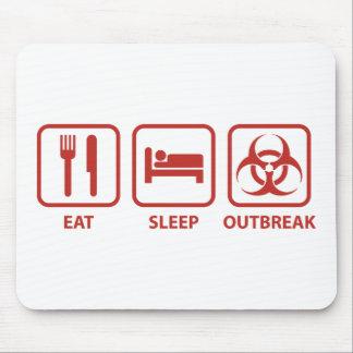 Eat Sleep Outbreak Mouse Pad