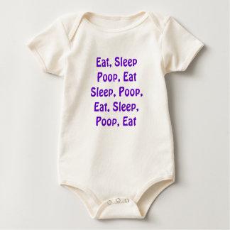Eat, Sleep, Poop Baby Bodysuit