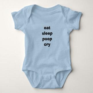 eat sleep poop cry baby bodysuit