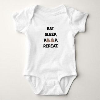 Eat, Sleep, Poop. Repeat. Baby Bodysuit