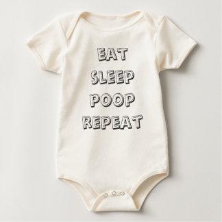 eat sleep pooprepeat baby bodysuit