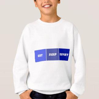 Eat Sleep Repeat Male Sweatshirt