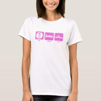 eat sleep row pink T-Shirt