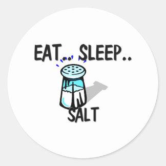Eat Sleep SALT Round Stickers