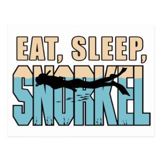 Eat Sleep Snorkle Postcard