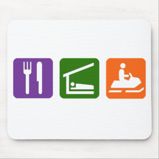 Eat Sleep Snowmobiling Mouse Pad