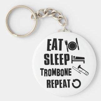 Eat Sleep Trombone Key Ring