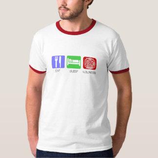 Eat Sleep Volunteer Fireman Tee Shirts