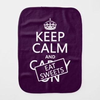 Eat Sweets Burp Cloth
