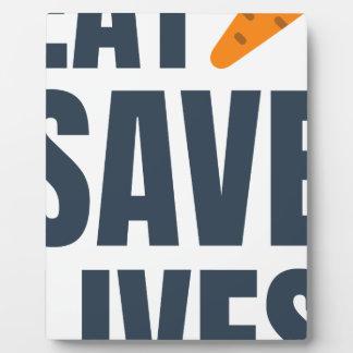 Eat Vegan - Save Lives Plaque