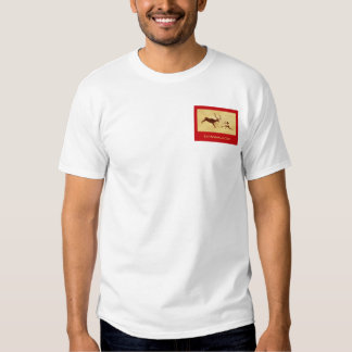 EatAnimals.com Red and White Henley T Shirt