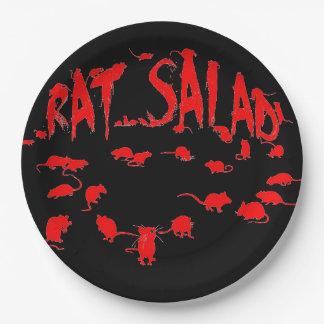Eating dead rat's inards paper plate