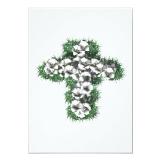 Eatser Cross 13 Cm X 18 Cm Invitation Card