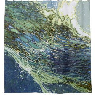 Ebb & Flow Nautical Waves Shower Curtain Juul