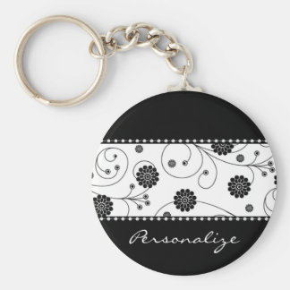 Ebony Bloom Banner Keychain