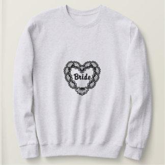 Ebony Heart - Bride Embroidered Sweatshirt