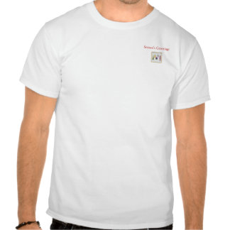 Ebroidered Look T-Shirt - Seasons's Greatings