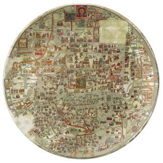 Ebstorf Map Porcelain Plates