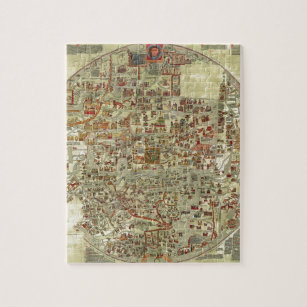 Old world map jigsaw puzzles zazzle ebstorfer old world map jigsaw puzzle gumiabroncs Choice Image