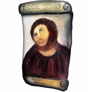 ECCE HOMO Spanish Painting Restoration Standing Photo Sculpture