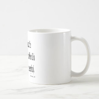 Eccles. 1:2, w2 coffee mug
