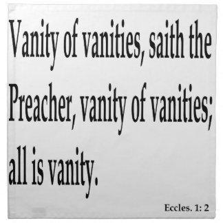 Eccles. 1:2, w napkin