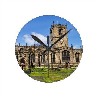 Eccles field church sheffield round clock