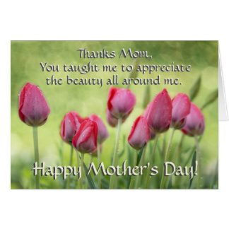 Ecclesiastes 3:11, Bible Verse Mother's Day Tulips Card