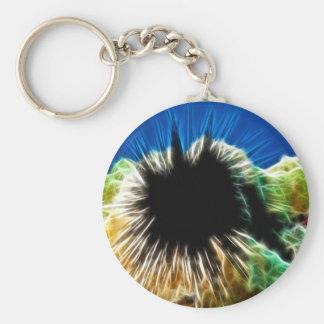 Echinothrix Calamaris Sea Urchin Basic Round Button Key Ring
