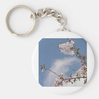 Echo work of cherry tree bloom basic round button key ring