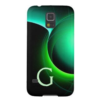 ECLIPSE MONOGRAM Vibrant black green Cases For Galaxy S5