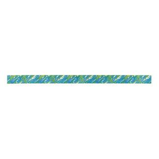 Eco Blue Green Camouflage Ribbon Satin Ribbon