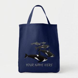 Eco-Friendly Orca Whale Tote Bag Killer Whale Bag