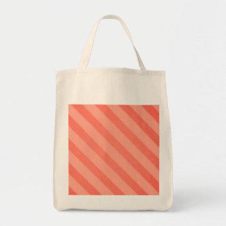 Eco-Friendly Vintage Stripe Tangerine Reusable Tote Bag