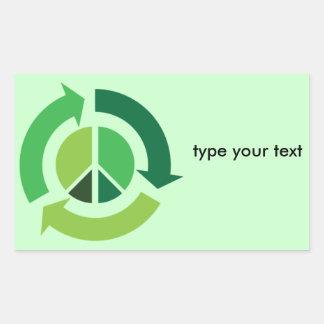 Eco Peace Rectangle Sticker