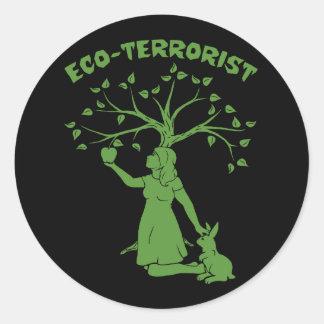 Eco-Terrorist Classic Round Sticker
