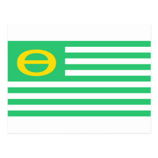 Ecology Flag - United States America Green Theta Postcard