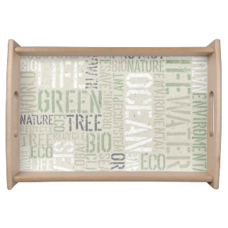 Ecology Words Serving Tray