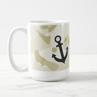 Ecru Camo; Anchor Basic White Mug