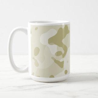 Ecru Camo; Camouflage Basic White Mug