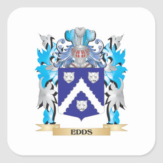 Edds Coat of Arms - Family Crest Square Sticker