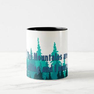 Edelweiss Alpen Cycle Coffee Cup #2 Two-Tone Mug